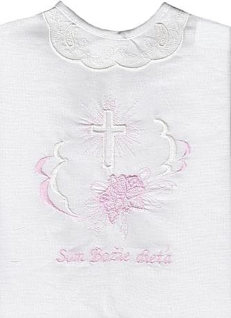 Krstová košieľka - ružová (9R)