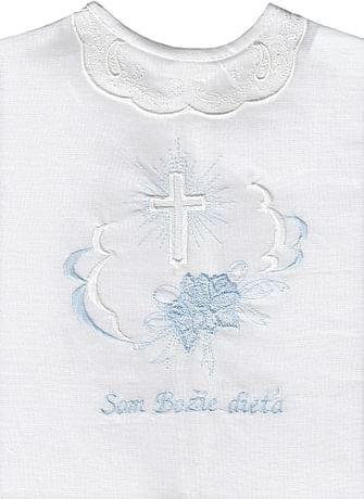 Krstová košieľka - modrá (9M)