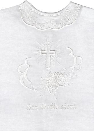Krstová košieľka - biela (9B)