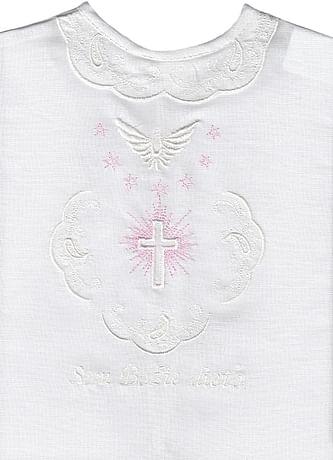 Krstová košieľka - ružová (4R)