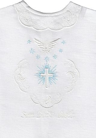 Krstová košieľka - modrá (4M)