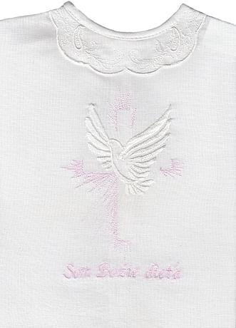 Krstová košieľka - ružová (26R)