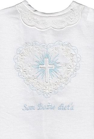Krstová košieľka - modrá (21M)