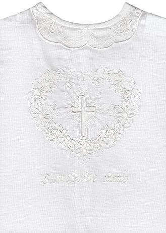 Krstová košieľka - biela (21B)