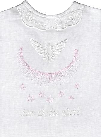 Krstová košieľka - ružová (11R)