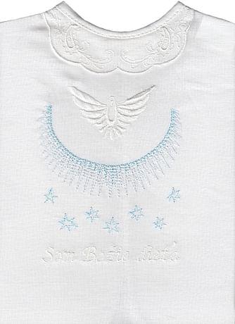 Krstová košieľka - modrá (11M)