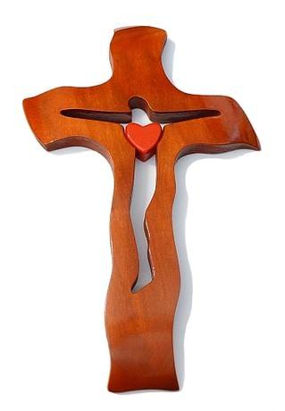 Kríž: drevený - čerešňa, veľký (236)