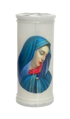 Kahanec: plastový s obrázkom, Panna Mária Sedembolestná - 15 cm
