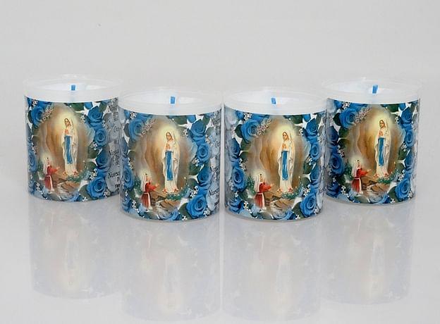 Kahanec: plastový s obrázkom Lurdy - 6 cm