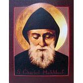 Obraz na dreve: Svätý Charbel (25x20)