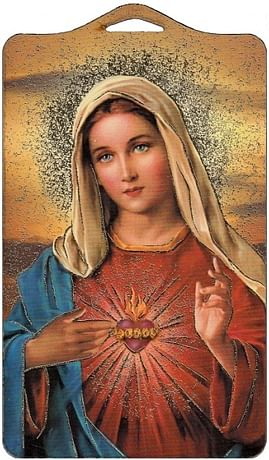 Obraz na dreve: Srdce Panny Márie (ODZ026)