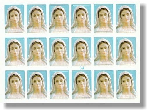 Samolepky: Panna Mária Medžugorská (34)