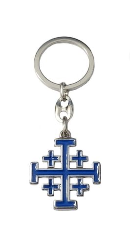 Kľúčenka: Jeruzalemský kríž, kovová (KP013NS,m)