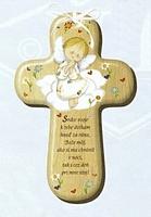 Kríž: s modlitbou, drevený (CM-3)