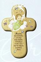 Kríž: s modlitbou, drevený (CM-1)