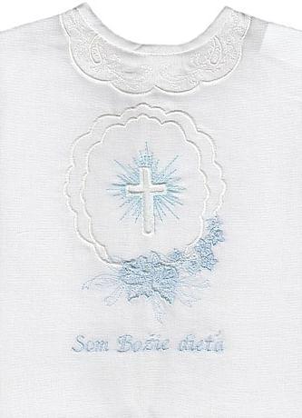 Krstová košieľka - modrá (25M)