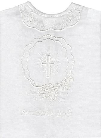 Krstová košieľka - biela (25B)