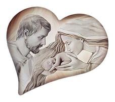 Obraz na dreve: Sv. rodina - srdce (ODZ032)