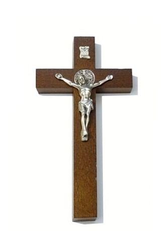 Kríž: drevený s Benediktínskou medailou (KVZ002)