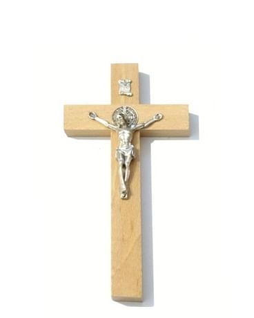 Kríž: drevený s Benediktínskou medailou (KVZ001)
