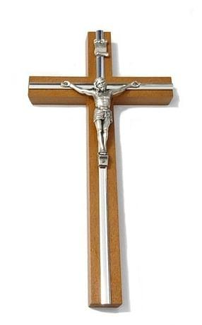 Kríž: drevený s lištou - hnedý 20 cm (KVZ007)