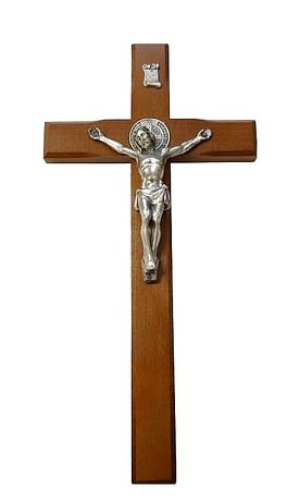 Kríž: drevený s Benediktínskou medailou (KVZ003)