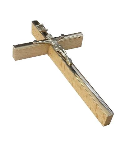 Kríž: drevený, s lištou 13 cm - prírodný (KVZ011)