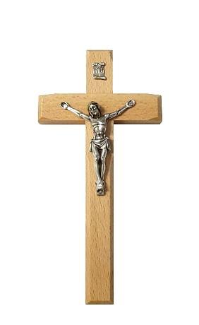 Kríž: drevený, frézovaný - prírodný (KVZ010)