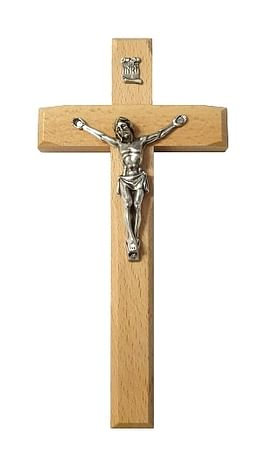 Kríž: drevený, frézovaný - prírodný (KVZ009)