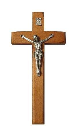 Kríž: drevený, frézovaný - hnedý (KVZ009)
