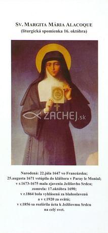 Záložka: Sv. Margita Mária Alacoque + litánie