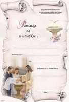 Pamätný list: Pamiatka na sviatosť krstu (BI20859-3)