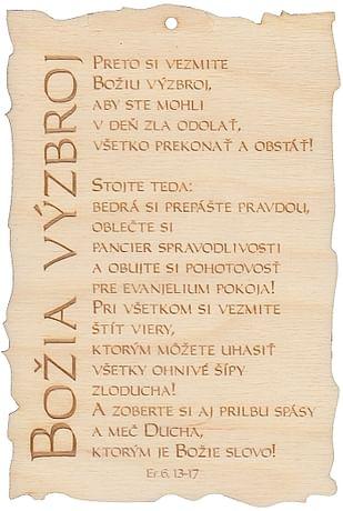 Citát na dreve: Božia výzbroj (151)