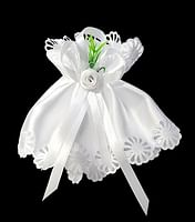 Ozdoba na sviečku: saténová - biela (OSZ01)