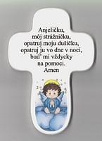 Kríž: s modlitbou - modrý anjel (AD3)