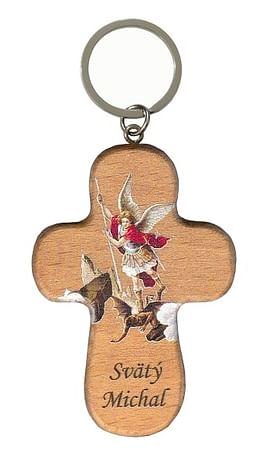 Kľúčenka: Svätý Michal, drevená (PC/CBI MI)