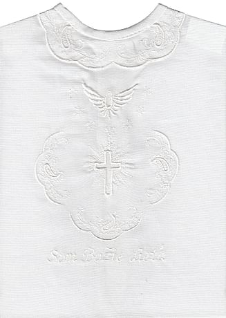 Krstová košieľka - biela (4B)