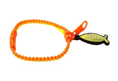 Náramok: zips - žlto oranžový (1532-15)
