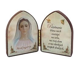 Oltárik: Panna Mária - Medžugorie (5,5CM-12)