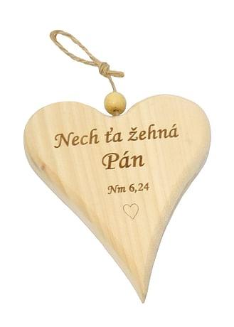 Drevené srdiečko: Nech ťa žehná Pán (2)