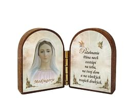 Oltárik: Panna Mária - Medžugorie (4CM-01bl.)