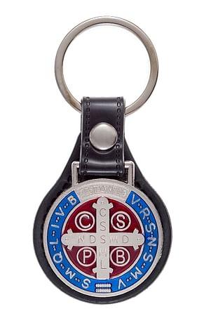 Kľúčenka: benediktínska, kovová (K5004-B)