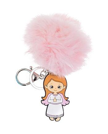 Kľúčenka: Anjel - ružová (KC364A)