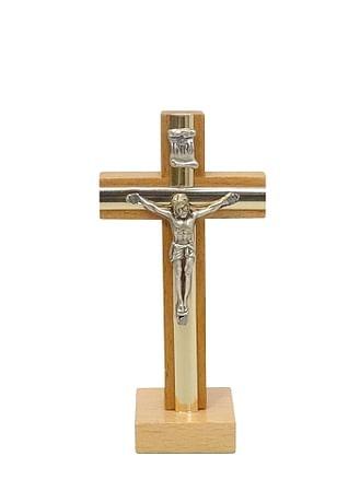 Kríž: drevený s lištou, na postavenie - prírodný (KSZ005)
