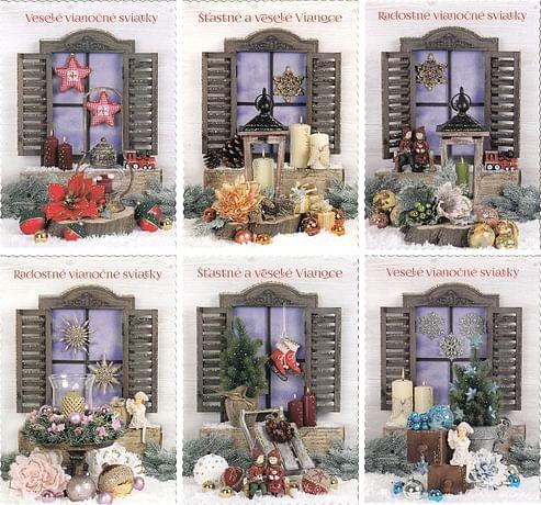 Pohľadnica: vianočná (STIVA séria 9113)