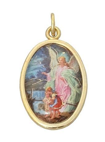 Medailón: Anjel strážny (MEZ001,zl)