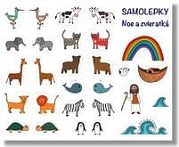 Samolepky: Noe a zvieratká
