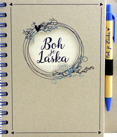 Zápisník s perom: Boh je Láska