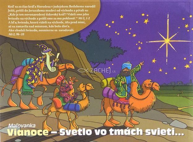Omaľovánka: Vianoce - Svetlo vo tmách svieti...