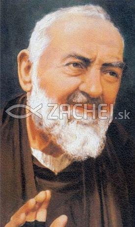 Obraz na dreve: Sv. Páter Pio (43x25) (ODZ043)